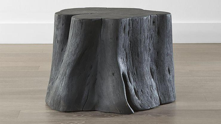 Perfect Teton Charred Black Solid Wood Accent Table