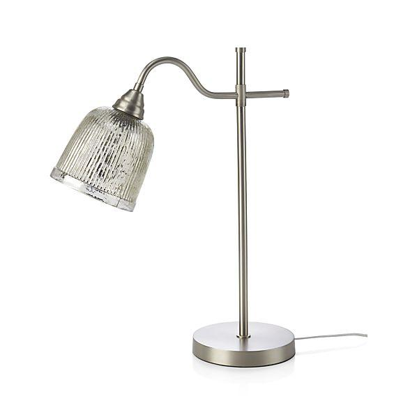 Tessa pewter desk lamp aloadofball Image collections