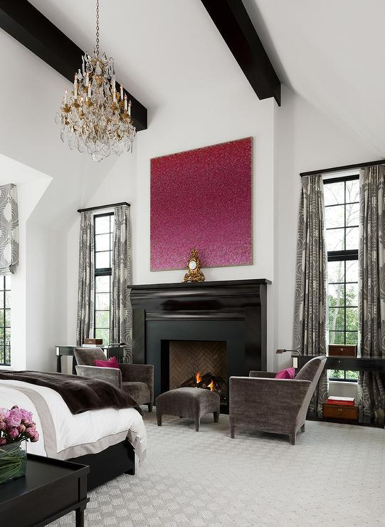 Pink and Brown Bedroom Design - Transitional - Bedroom