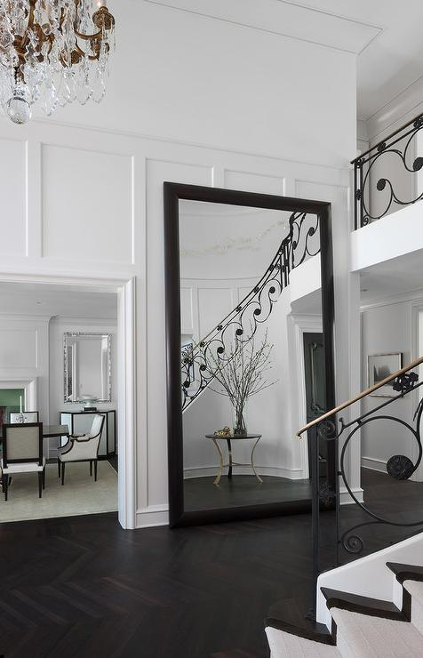 Foyer Mirror Height : Foyer brick floor design ideas page