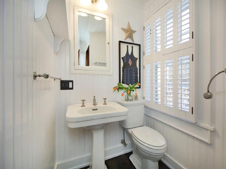 seaside bathroom with framed vintage swinsuit cottage bathroom rh decorpad com cottage white medicine cabinet cottage style medicine cabinet
