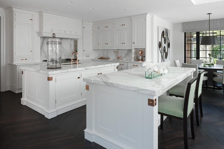 white kitchen cabinets with copper hardware view full size. beautiful ideas. Home Design Ideas
