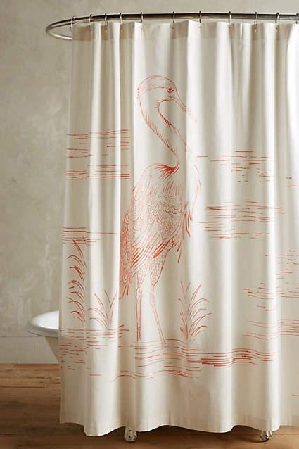 Curtains Ideas bird shower curtain : Gull Bird Gray and Pink Shower Curtain