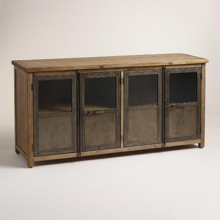 Langley Brown Media Cabinet