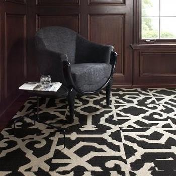 Geometric pattern carpet tiles carpet vidalondon for Black and white patterned carpet