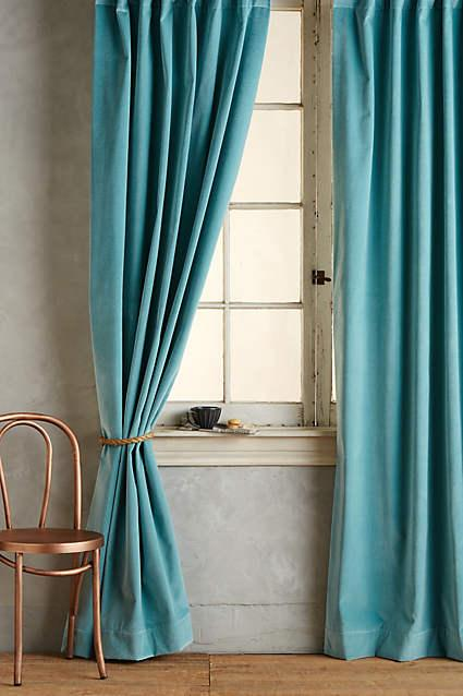 matte teal velvet curtain. Black Bedroom Furniture Sets. Home Design Ideas