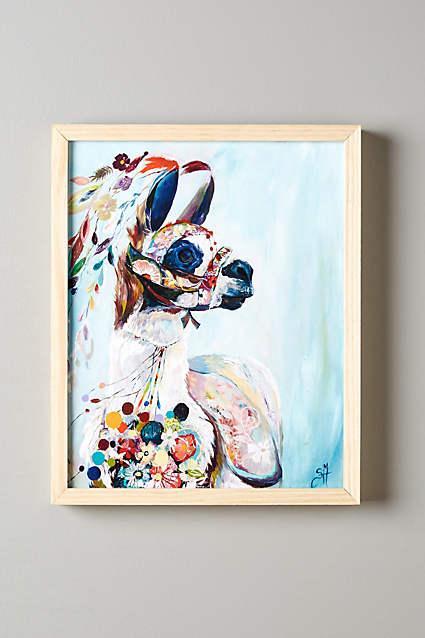 Multicolor Mooreland Wall Art Alpaca