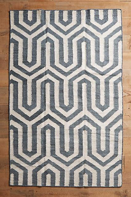 4040 Locust Patan Line Yellow White And Black Woven Rug
