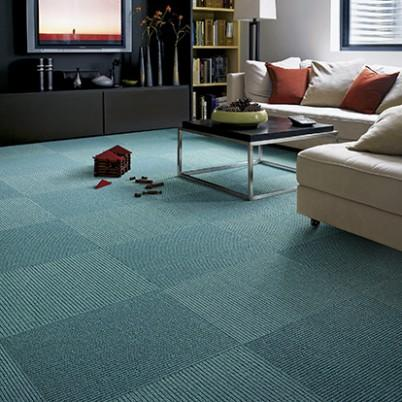 front row teal carpet tile view full size