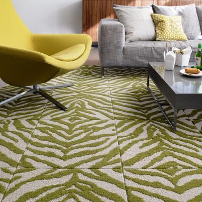 zebra crossing kiwi carpet tile