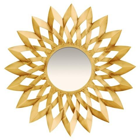 Small Decorative Wall Mirrors wall gold barcelona mirror