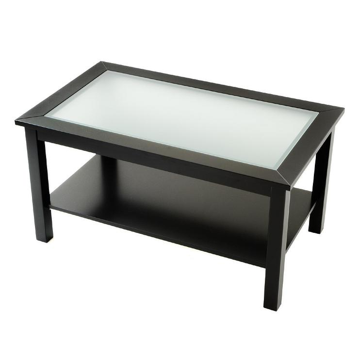 Good Coffee Table Black Glass Top Part - 10: Abbyson Living Atkins Antique Black Glass-Top Coffee Table