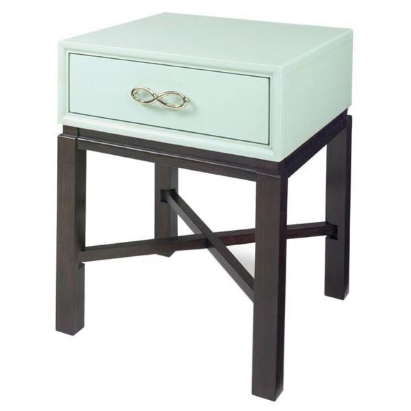 spencer light blue chairside table
