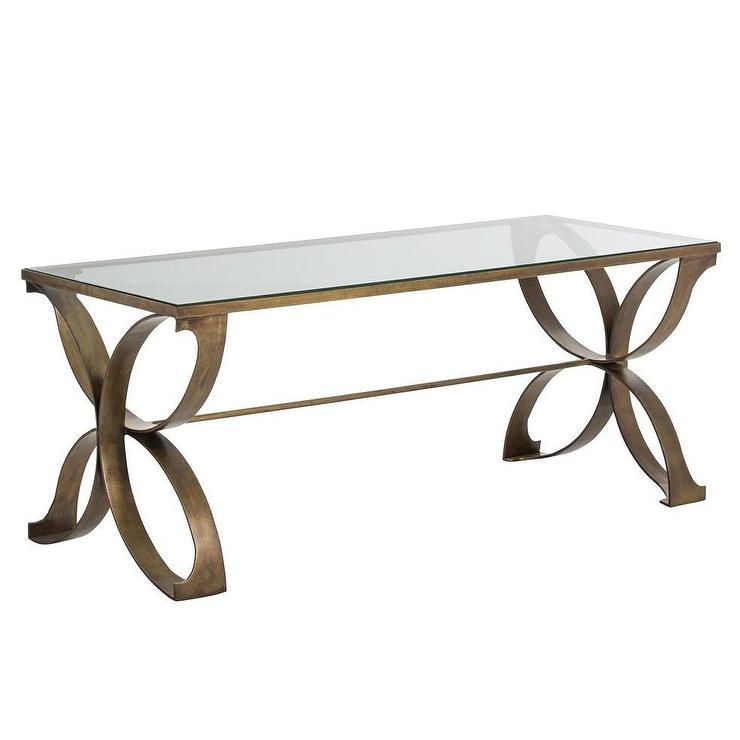 Tory Square Clear and Bronze Coffee Table