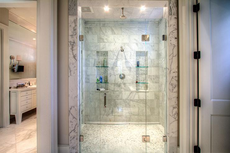 Master Bathroom His And Hers his and hers shower niches design ideas