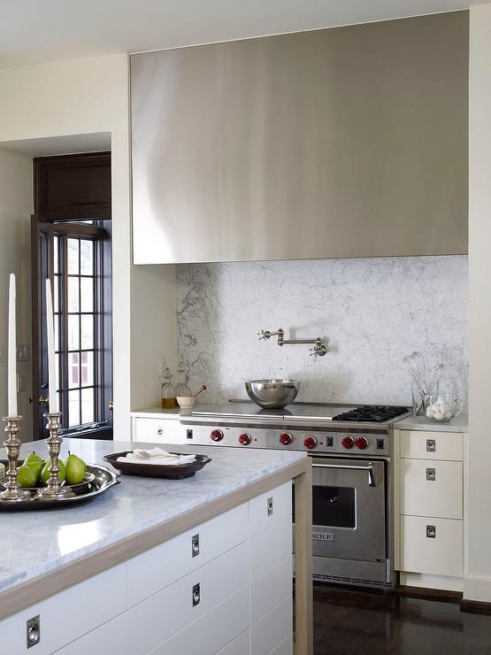 Long and Wide Stainless Steel Kitchen Hood - Transitional - Kitchen
