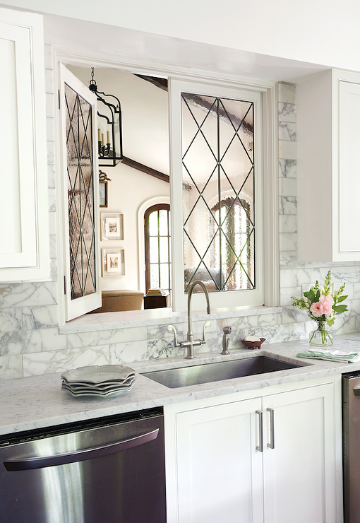 Leaded Glass Kitchen Pass Through Windows