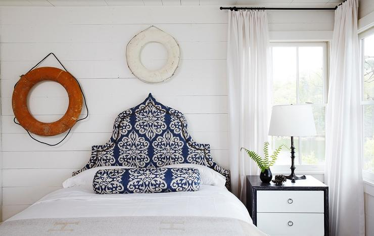 Shiplap Bedroom With Decorative Life Savers