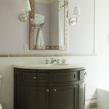 half moon vanity traditional bathroom veranda