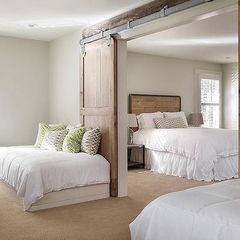 Country Bedroom Barn Doors Design Ideas