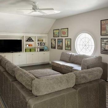 Family Room with Modular Gray Sectional : family room design ideas with sectional - Sectionals, Sofas & Couches
