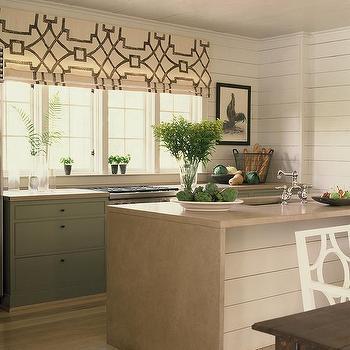 Cream And Green Kitchen Design