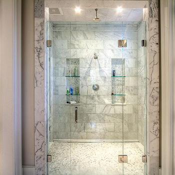 Shower Niche Glass Shelves Design Ideas