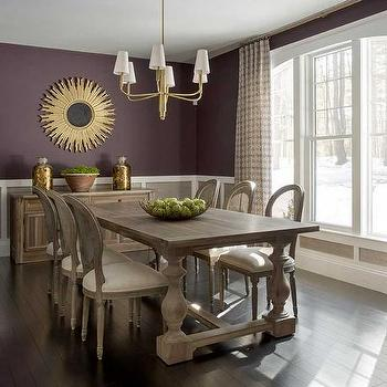 French Dining Room With Purple Chairs