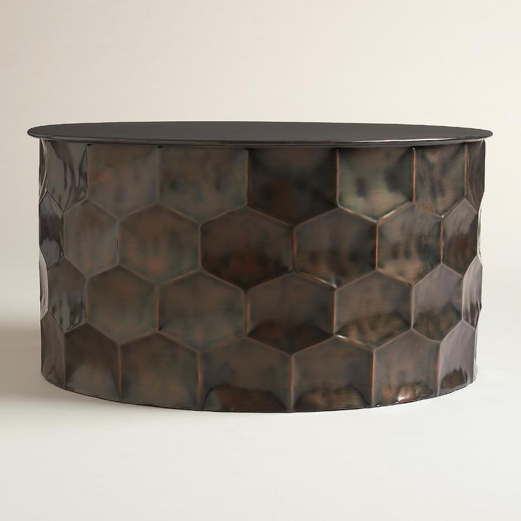 Metal Rani Copper Coffee Table - Pottery barn vince coffee table