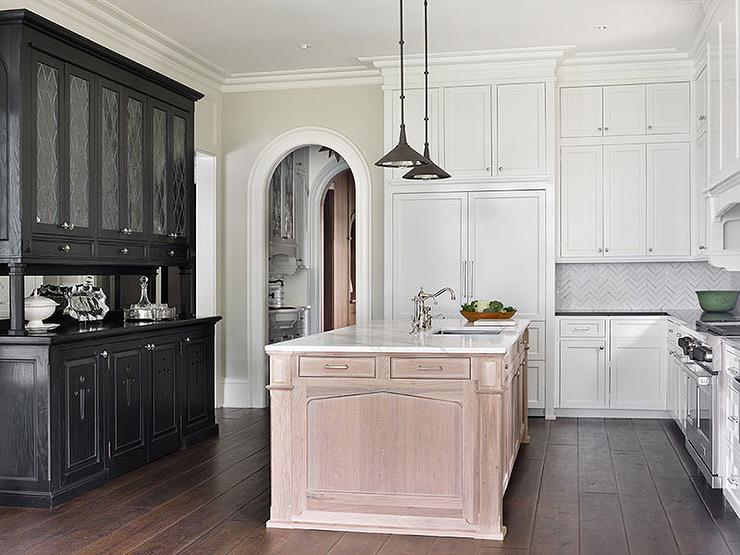 Black Leaded Glass Hutch and Sideboard - Transitional - Kitchen