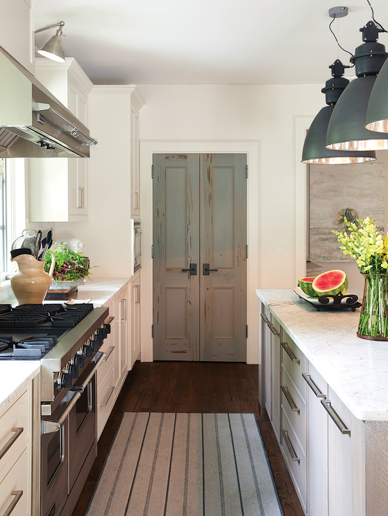 Pecky Cypress Pantry Doors Transitional Kitchen