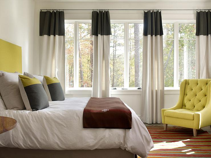 Bedroom Curtains black bedroom curtains : Yellow Curtains Design Ideas