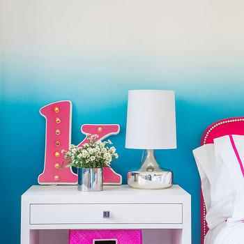 Turquoise Ombre Walls. Pink And Turquoise Girls Design is important