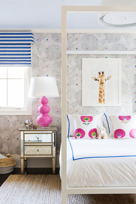 Kids Room With White Canopy Bed Contemporary Girl S Room