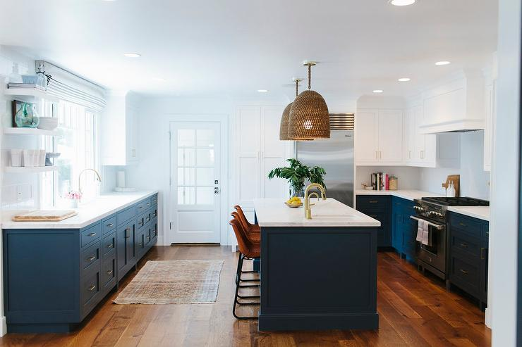 Navy Blue Kitchen Cabinets Painted Benjamin Moore Hale Navy ...