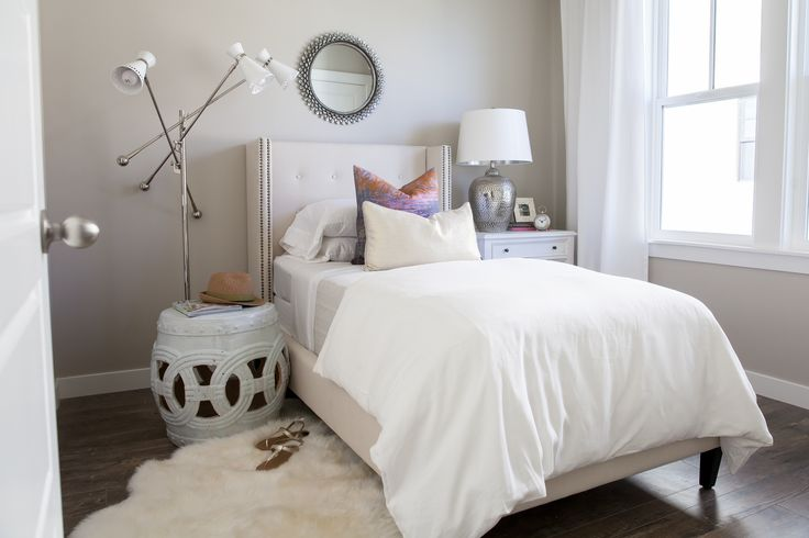 Mirror Over Nightstand - Contemporary - Bedroom - The Design Company