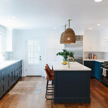 Navy Blue Kitchen Cabinets Painted Benjamin Moore Hale