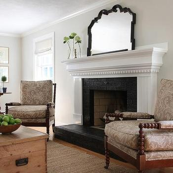 Black Brick Fireplace Surround - Design photos