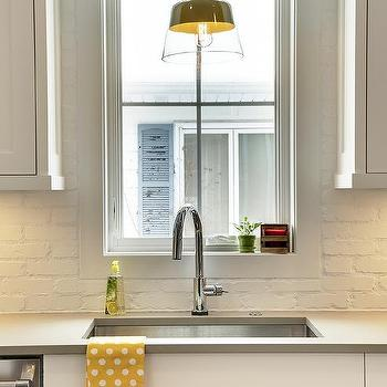 painted brick backsplash design ideas