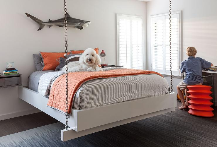 Chain Hanging Bed - Transitional - Bedroom