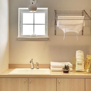 Laundry Room Over The Sink Drying Rack Contemporary