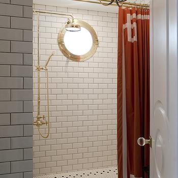 walk in shower with greek key tiles transitional bathroom. Black Bedroom Furniture Sets. Home Design Ideas