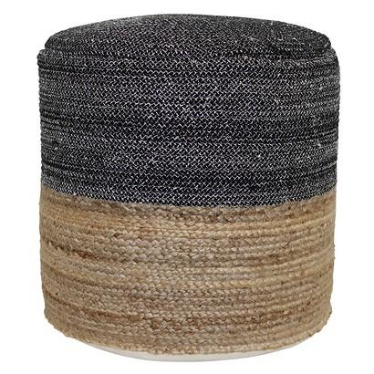 Threshold Navy And Natural Outdoor Woven Pouf Stunning Threshold Outdoor Pouf