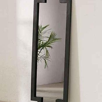 Threshold black full length door mirror for Full length mirror black frame