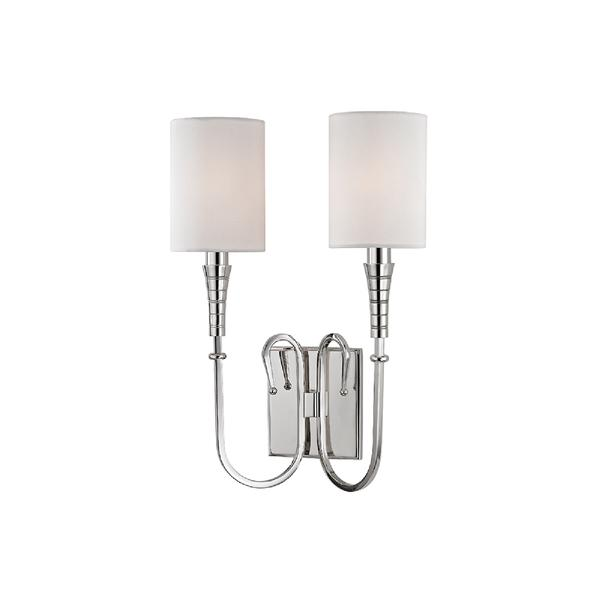 sc 1 st  Decorpad & Hudson Valley Lighting Kensington 2-Light Polished Nickel Wall Sconce