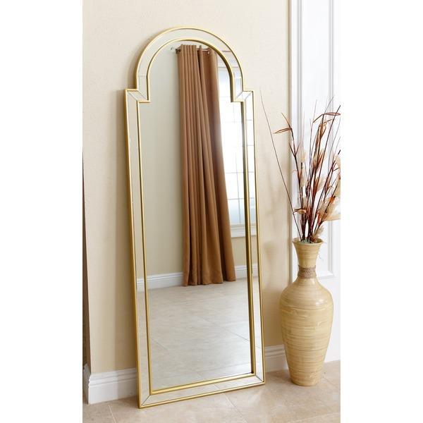 Abbyson Living Sonia Gold Rectangle Wall Mirror