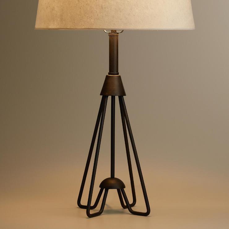 Black Finish Iron Hairpin Kent Table Lamp Base