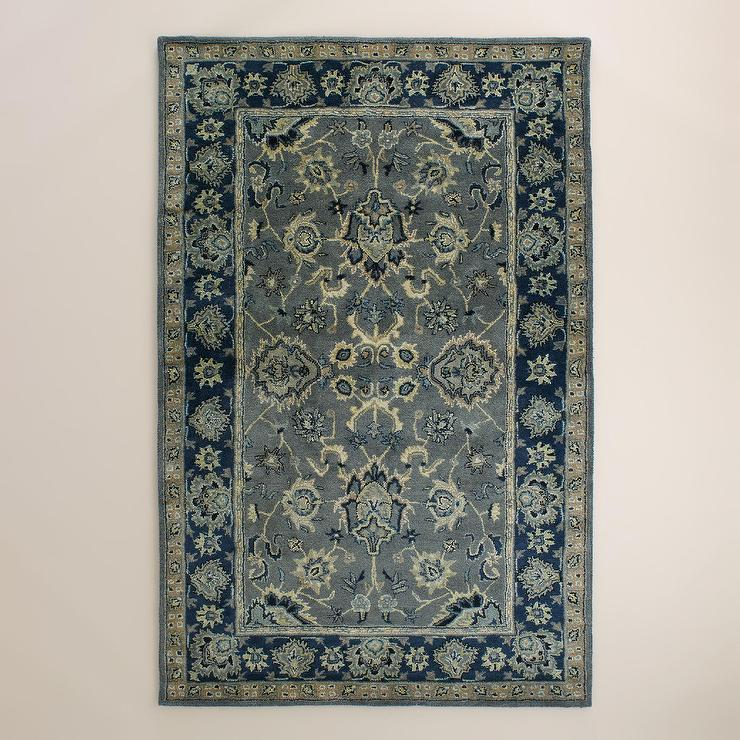 Petra Agra Tufted Wool Blue And Grey Area Rug