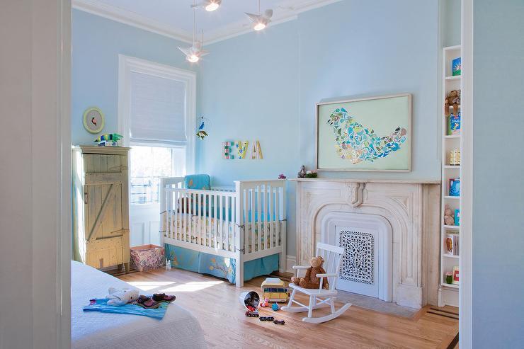 Blue Nursery And Guest Room Transitional Nursery