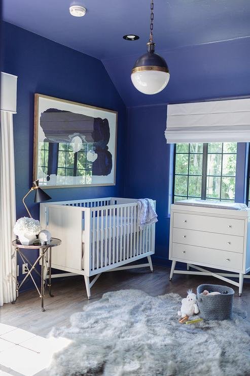 White And Blue Nursery Design Ideas